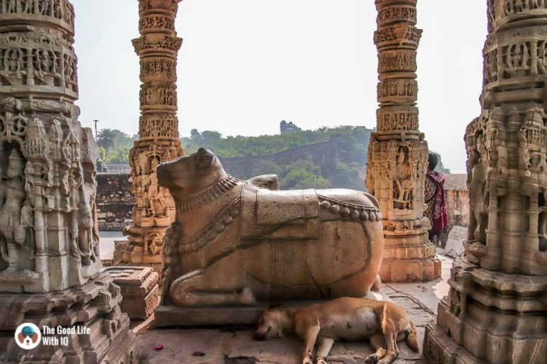 Chittorgarh Fort - Samadhishvara temple nandi