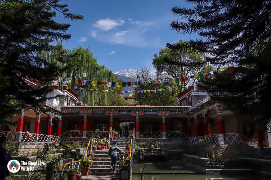 Norbulingka Institute and mountains, Dharamshala