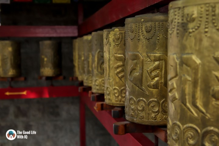 Prayer wheels, Norbulignka, Dharamshala