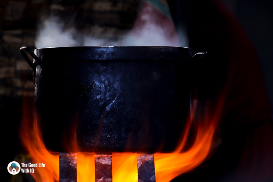 Pot on the flame