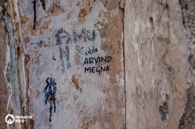Graffiti, Zenana Mosque, Golconda Fort