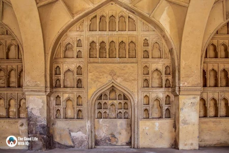Oil lamp niches, Golconda Fort