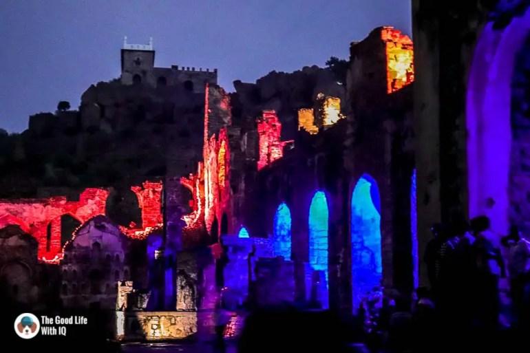 Sound and light show, Golconda Fort