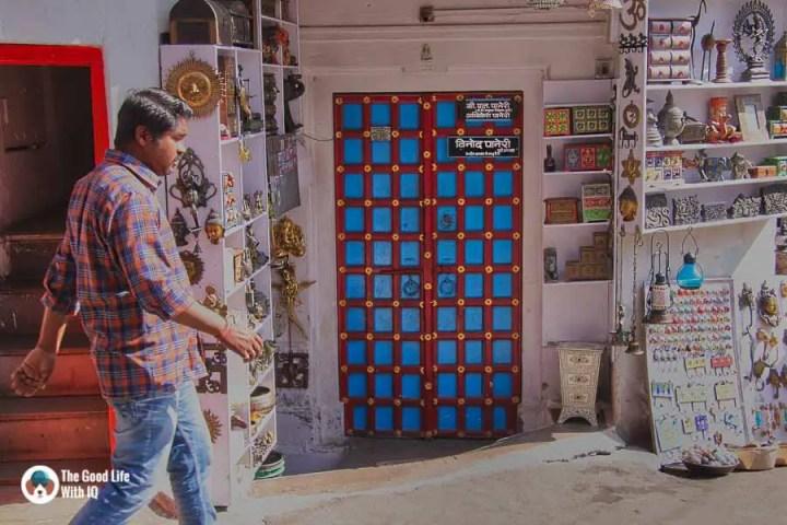 Blue door, Udaipur