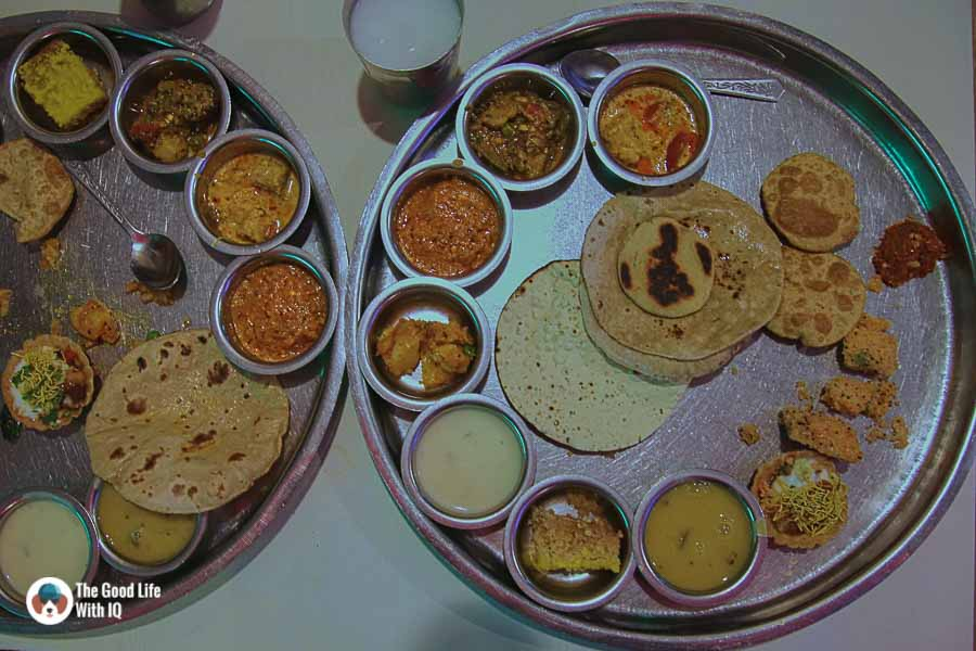 thali at Natraj Dining Hall