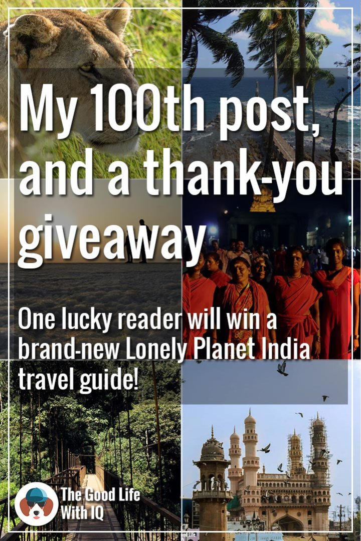 Pinterest thumbnail - 100th post and thank-you giveaway