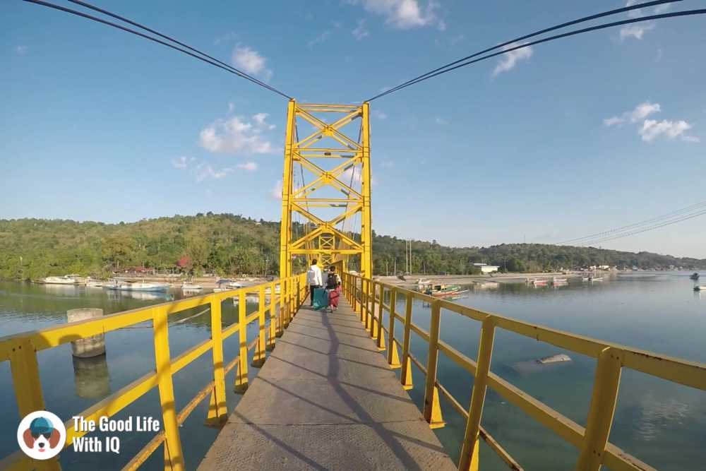 Yellow bridge between Lembongan and Ceningan, Bali
