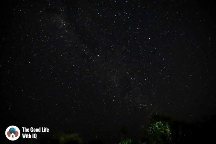 Stars at night, Ceningan, Bali