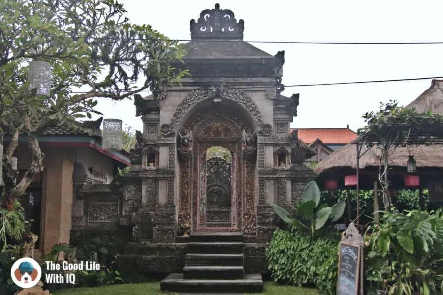 Ornate gate - Three days in ubud, Bali
