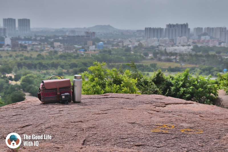 View of Golconda Fort from Khanapur hill, Hyderabad