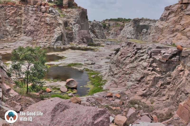 Granite quarry, Khanapur hill, Hyderabad