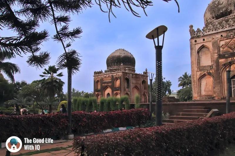 barid shahi park  - Hyderabad to Bidar road trip