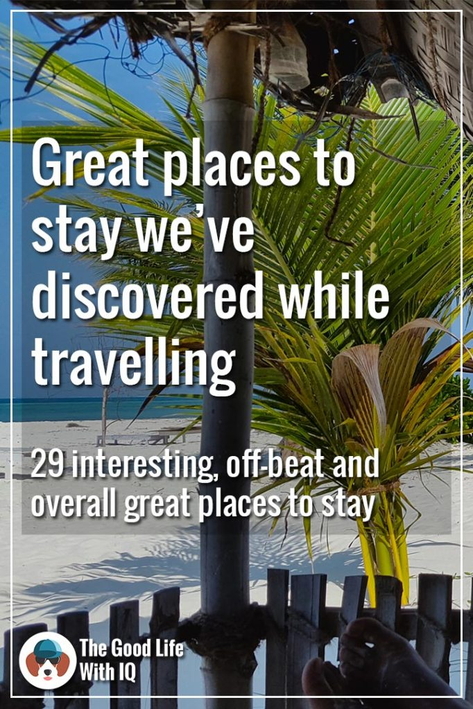 Pinterest thumbnail - Unique places to stay in India
