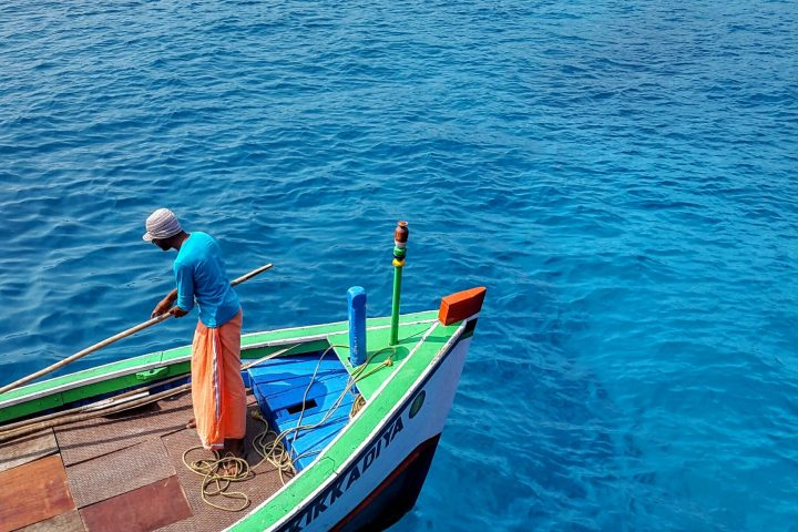 Bright blue waters - Agatti, Lakshadweep