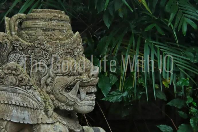 Gateway guardian statue in Bali