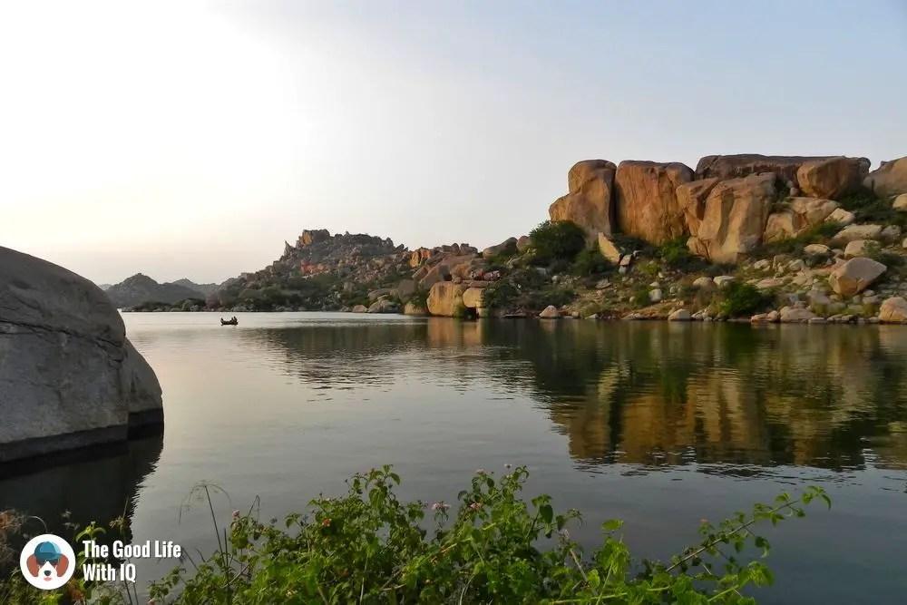 Sanapur lake - Hyderabad to Hampi road trip