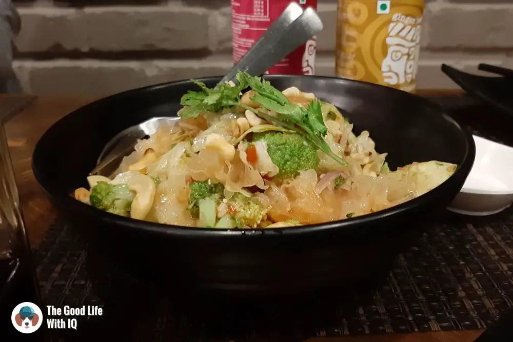 broccoli and white fungus salad - hashi - great vegetarian restaurants in Hyderabad