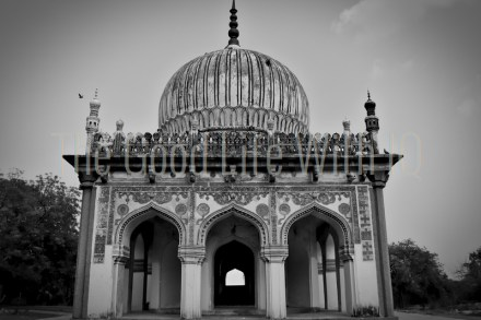 The tomb of a royal 'hakeem' (physician) at the Qutb Shahi tombs, Hyderabad, India
