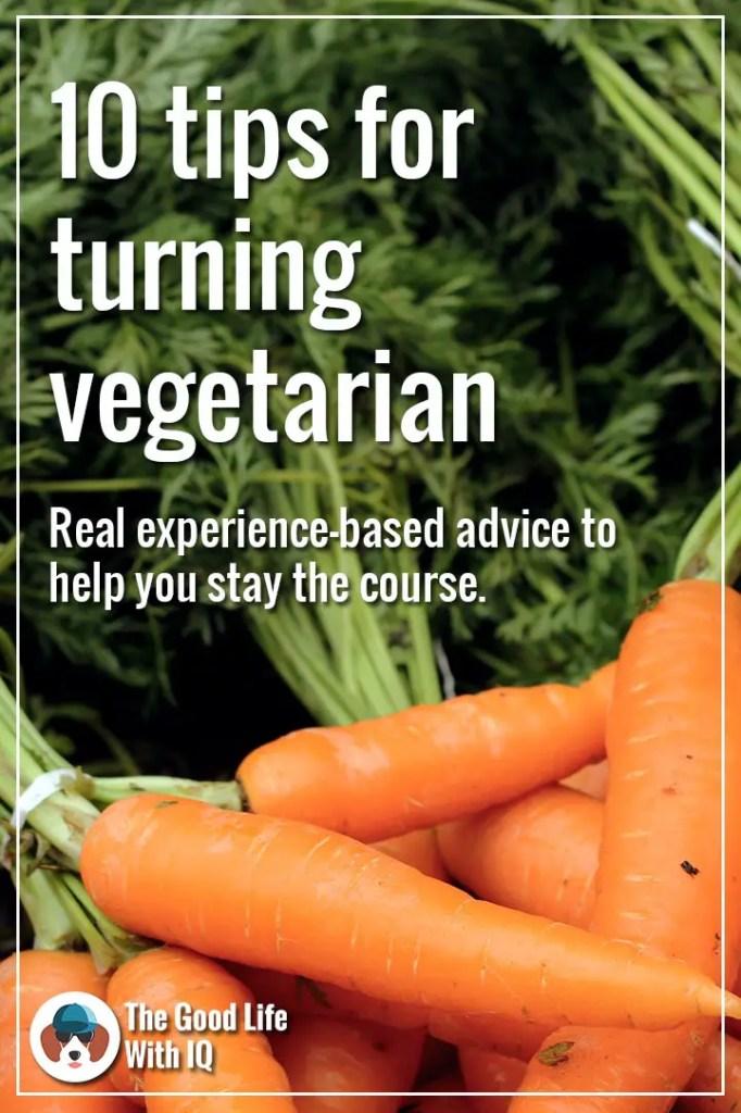 Tips for aspiring vegetarians - Pinterest thumbnail