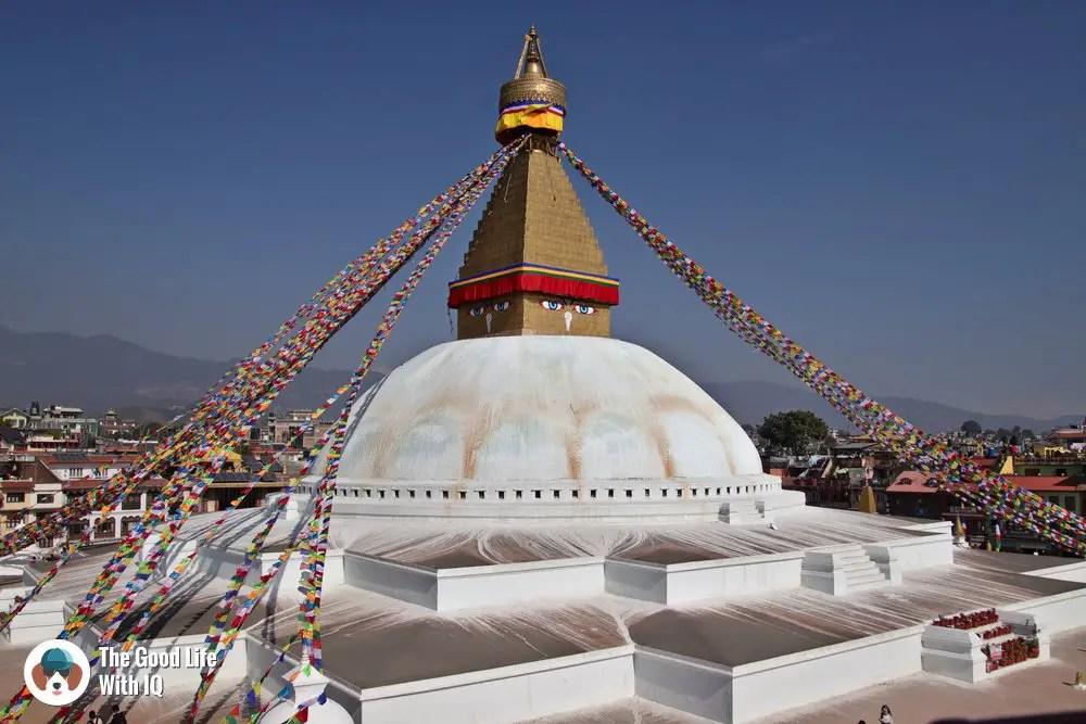 Boudanath stupa - Three days in Kathmandu