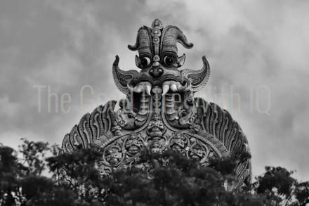 Keertimukha on gopuram of Meenakshi temple, Madurai, India