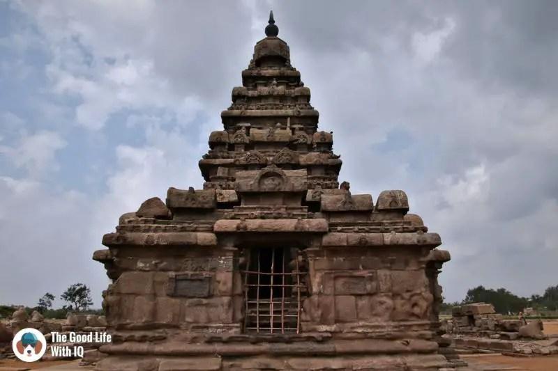 Sand-smoothed walls, Shore Temple, Mahabalipuram