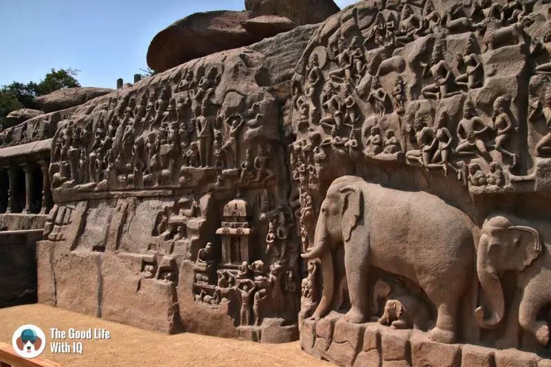 Arjuna's penance, Mahabalipuram - 3 day trip to Pondicherry