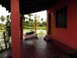 Outside our room at Gowri Resort