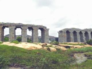 The remains of Hampi's ancient aqueduct