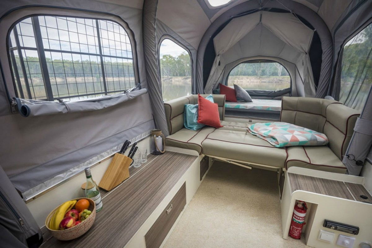 pop up camper winter camping