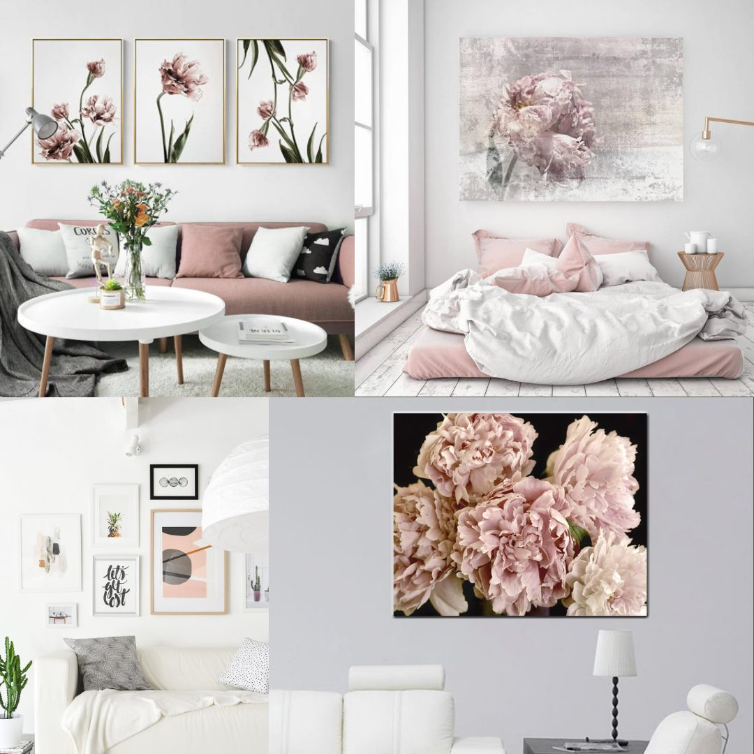 floral wall art canvas ideas for bedroom