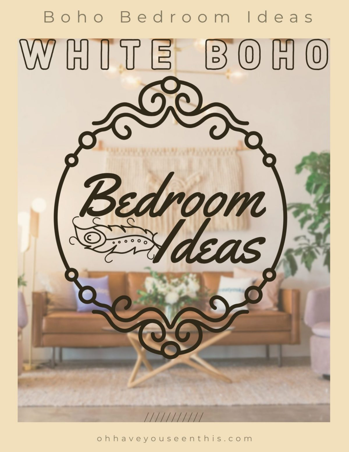 White boho bedroom ideas