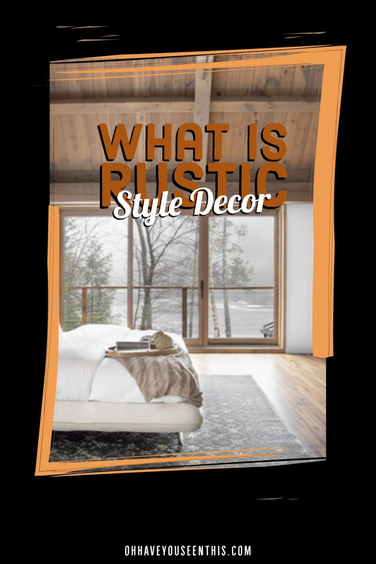 What is rustic style decor
