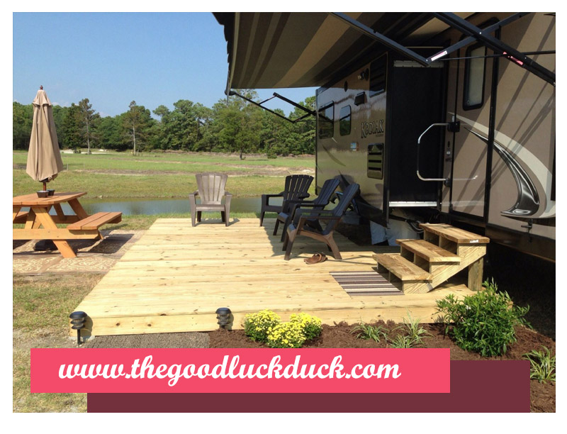 portable camping deck