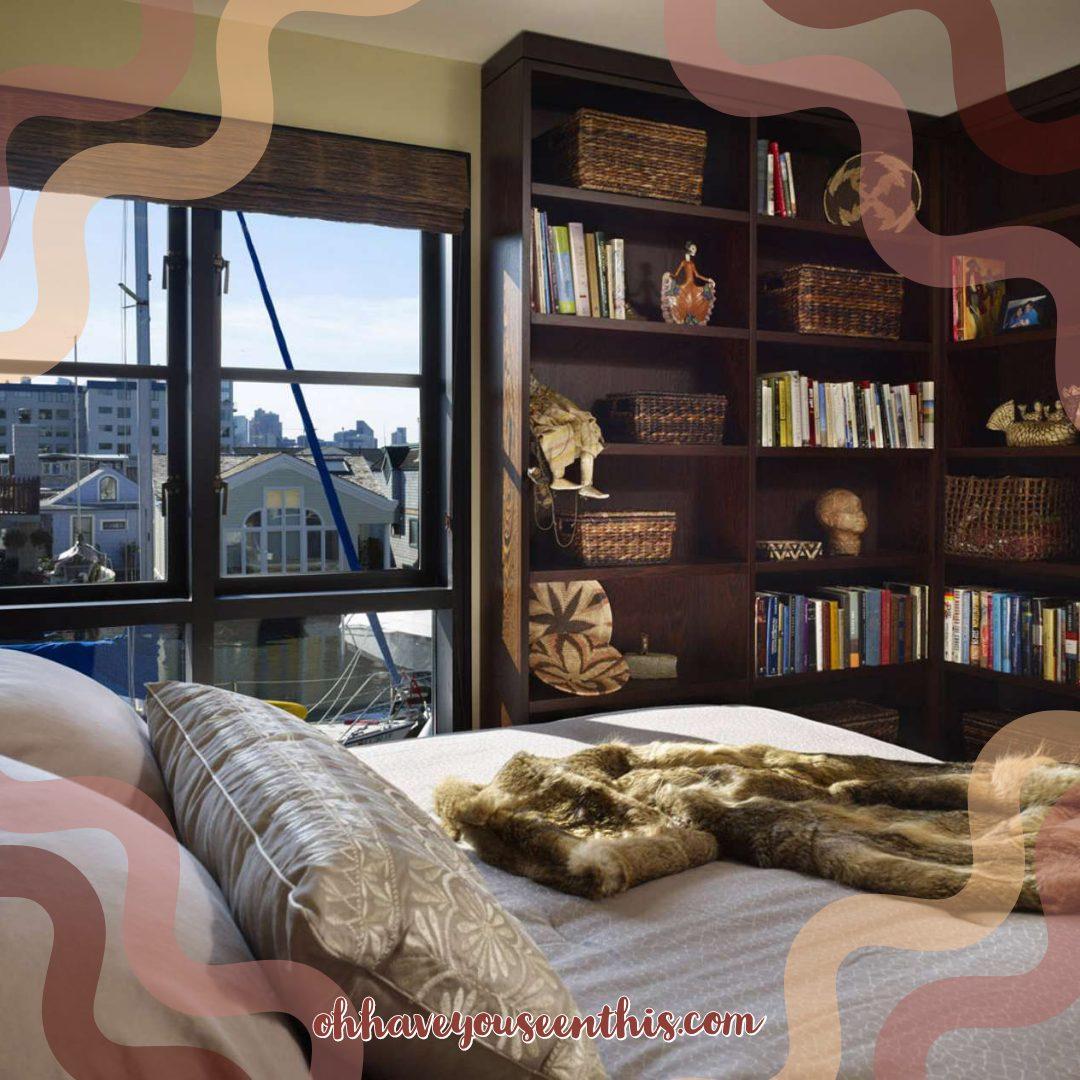 bedroom bookshelves corner storage ideas
