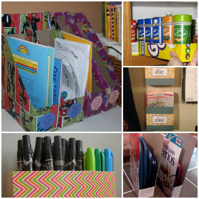 Organize with Cereal Boxes