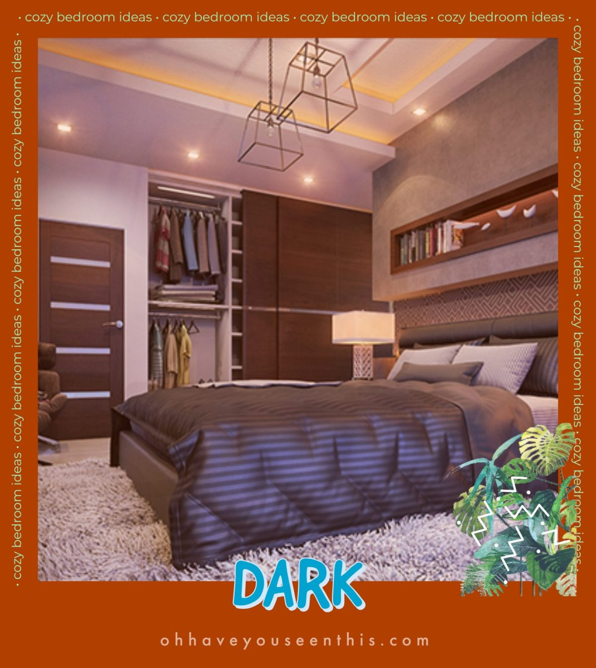 dark bedroom color schemes