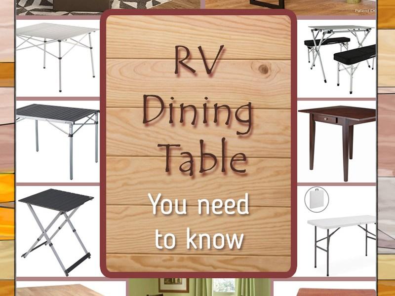 rv dining room table