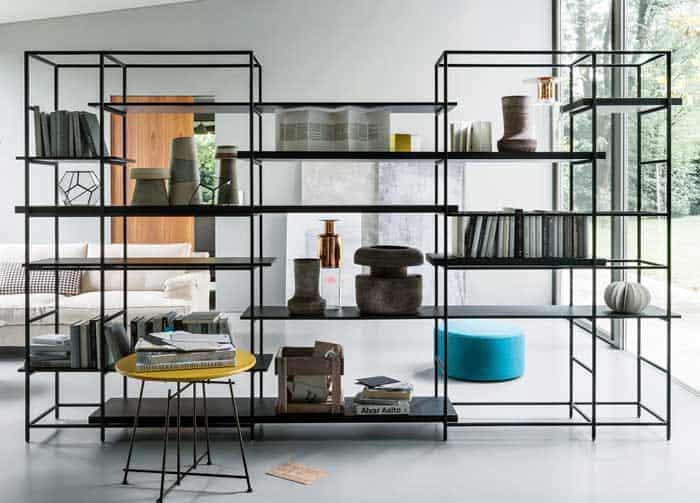 Plain Sectional Metal Bookcase
