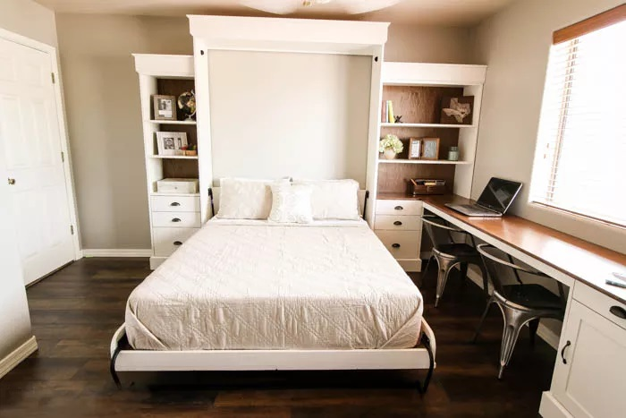 A Modern Farmhouse Murphy Bed
