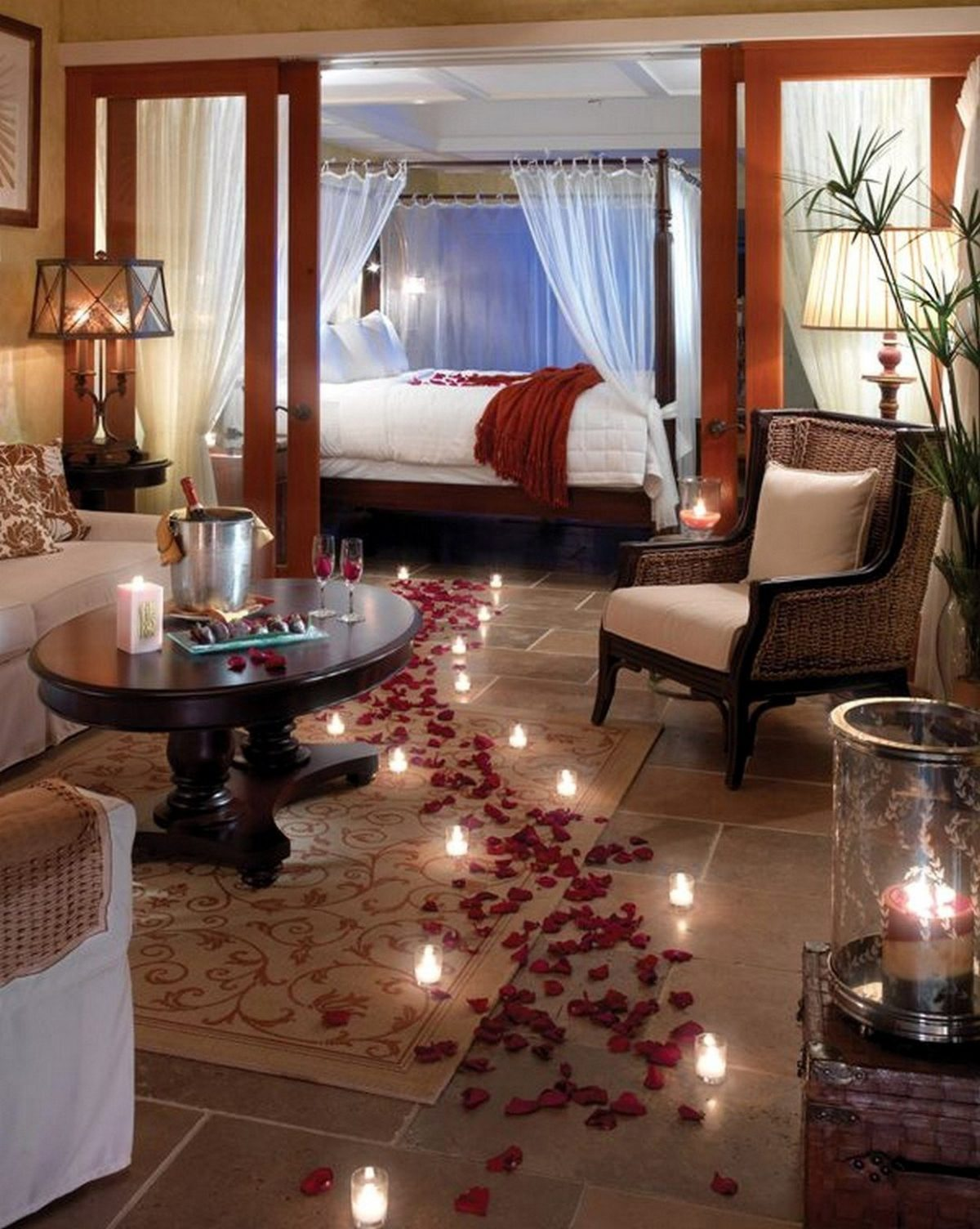 Romantic bedroom ideas for valentine's day