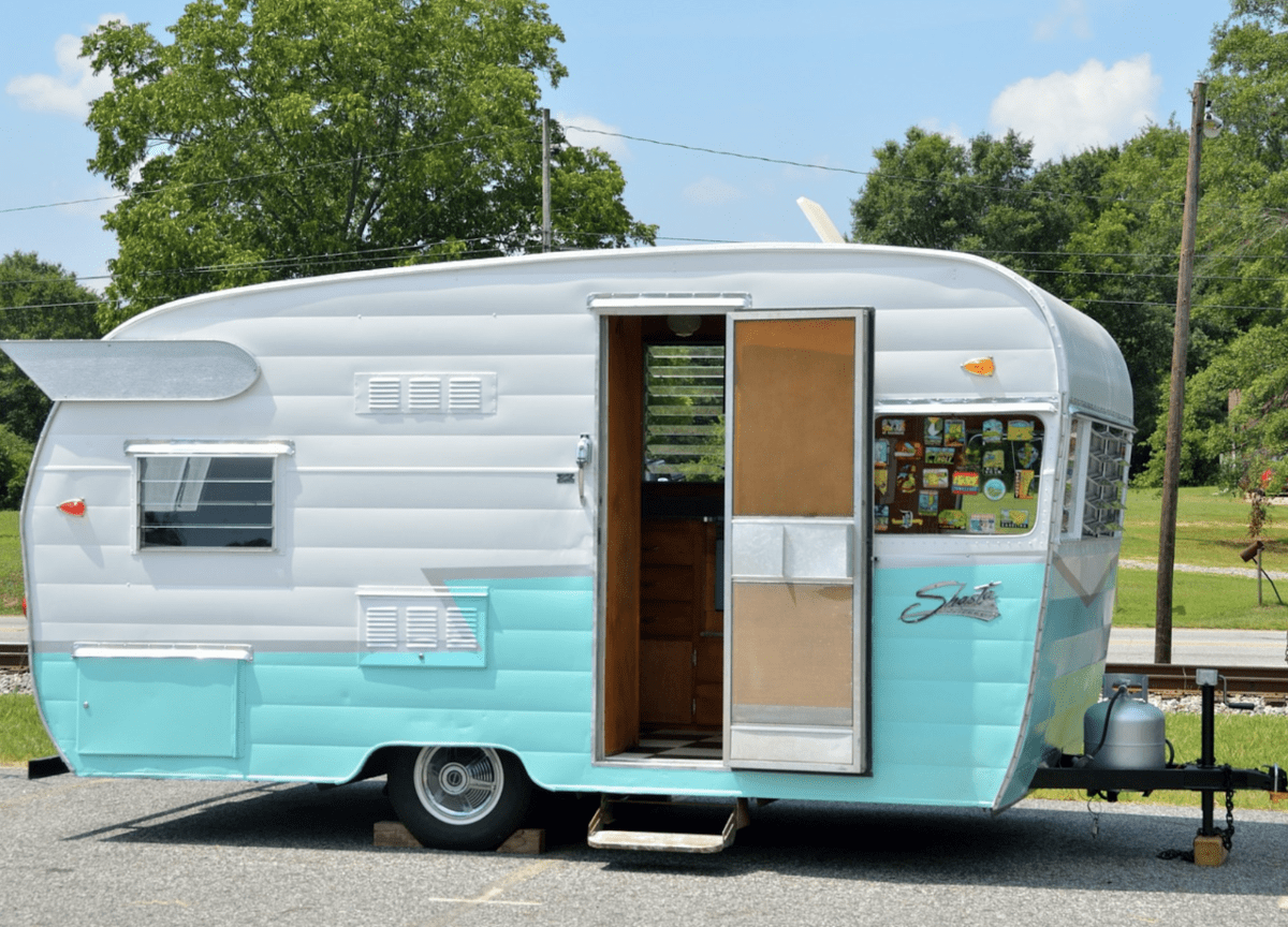 clean camper rv awning