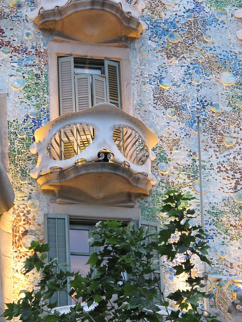 Barcelona mosaic Gaudi architecture
