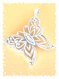Butterfly symbol pendant
