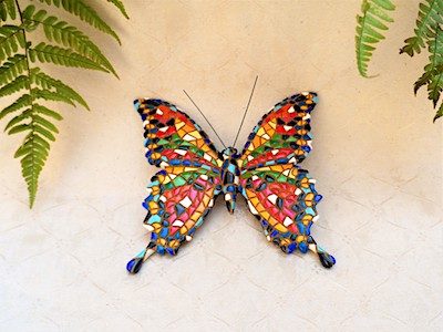 Ceramic butterfly figurine