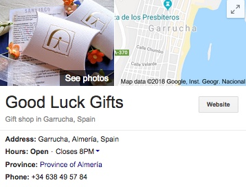 Good Luck Gifts in Spain