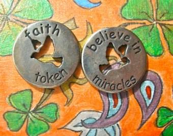 Faith token for luck travelling