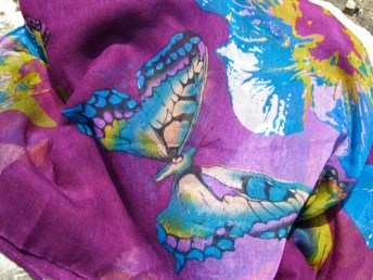 Butterfly scarf