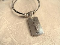 Christian cross dog tag