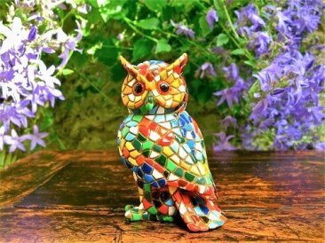Wise owl symbol ceramic